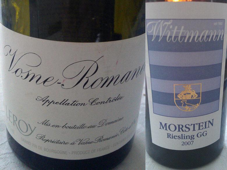 Leroy Vosne-Romanee 2004 og Wittmann Morstein GG 2007